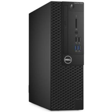 Dell Optiplex PC 3050 SFF, i5-7500, 4×, 3,4GHz, 8GB, DDR4, Intel HD 630, SSD: 256GB, DVD-RW, 10/100/1000 Mb/s, USB3.0: 4db, Windows 10 Pro 64bit, fekete