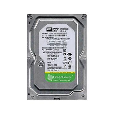 "WESTERN DIGITAL 3.5"" HDD SATA-II 500GB 5400rpm 16MB Cache, GREEN POWER WD5000AVCS"
