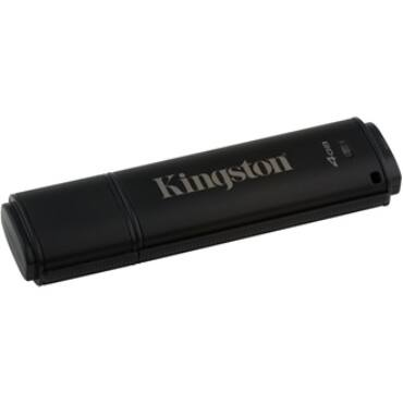 Kingston 4GB DT4000 G2 Secure Hardware Encryption (Management Ready) vízálló ütésálló USB3.0 pendrive fekete - DT4000G2DM/4GB