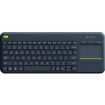 Logitech K400 Plus vezeték nélküli touch pad magyar billentyűzet fekete - 920-007157